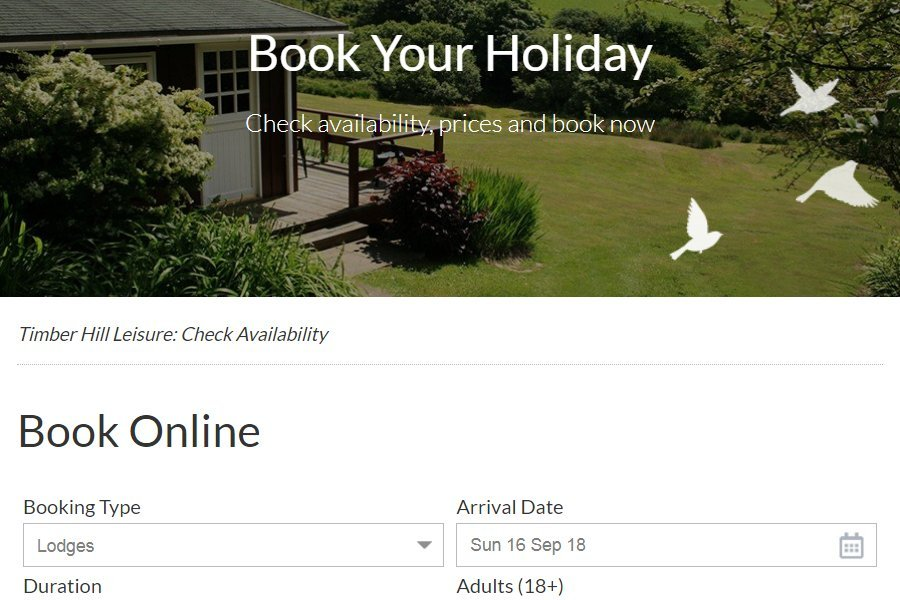 Online booking CampManager